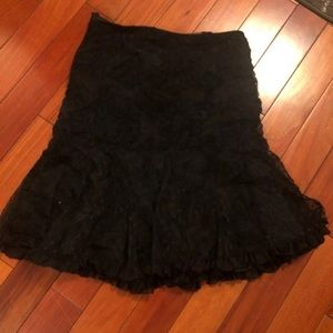Nanette leopre fancy skirt size ten black